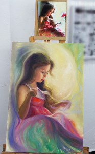 Little girl. Painted with Volegov's photo sketch