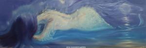 Siren. Oil. 120x40cm